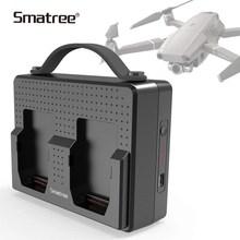 Smatree baterias portáteis para dji mavic 2 pro estação de carregamento compatível carga dois mavic 2 zoom baterias simultâneas