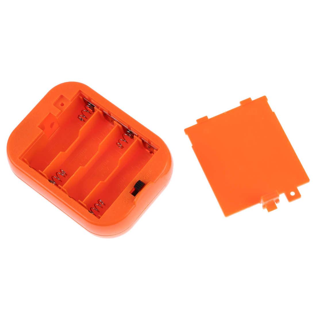 Горячий TOD-миниатюрный вентилятор для головы талисмана надувной костюм 6 V питание 4xAA сухой аккумулятор оранжевый