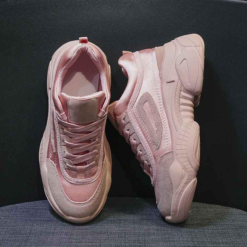 Pink Chunky Sneakers Female Sneakers 2019 Women Shoes Platform Dad Sneaker Casual Spring Footwear Woman Trainers zapatos mujer in Women 39 s Vulcanize Shoes from Shoes