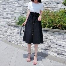 PEONFLY модные весенне-летние юбки женские однотонные до середины икры Длина юбки элегантная высокая талия бутон Женская плиссированная юбка