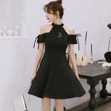 Kinikiss Women Black Gothic Dress Summer Sexy Cold Shoulder Moon See Though Short Black Dresses Cute Bow Tie Girl Goth Dress-in Dresses from Women's Clothing on Aliexpress.com | Alibaba Group