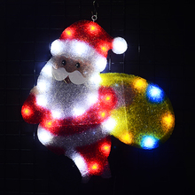 24V EVA Santa clause motif lights - 20.9 in. Tall navidad hanging LED decorative christmas party outdoor