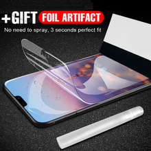 Full Protective Hydrogel Film For Huawei P20 Lite P20 Pro Mate 20 Lite Cover Screen Protector Honor 8X Max V10 Note 10 Nova 3 i for huawei nova 4 3 3i p smart plus honor 8x play mate20 p20 mate 10 20 lite pro screen protector film silicone hydrogel sticker