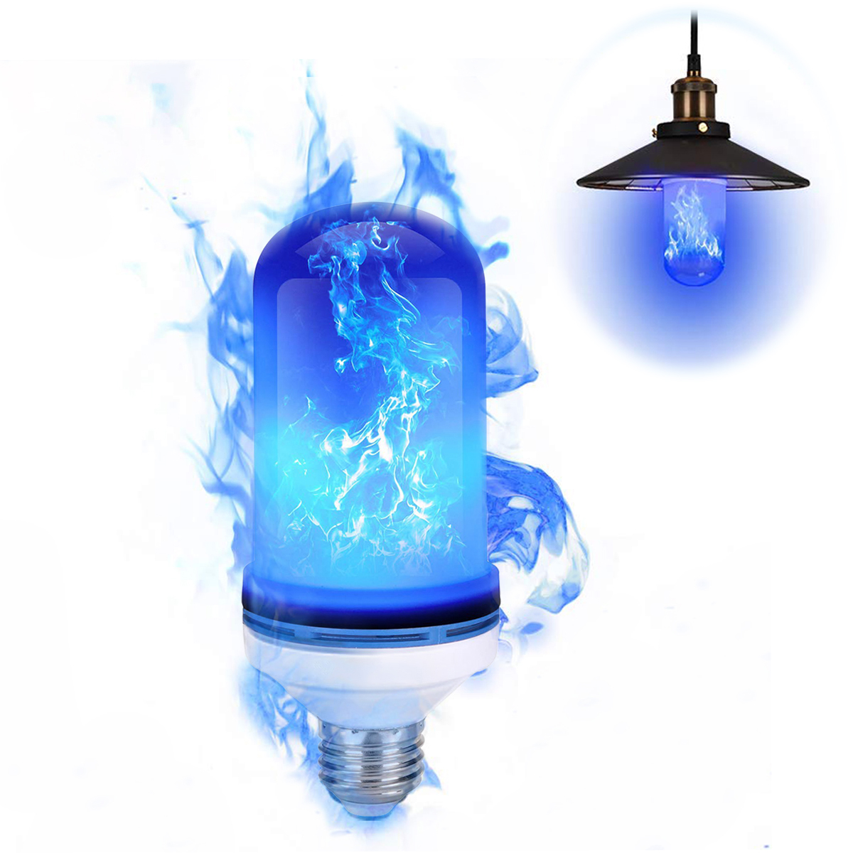 E27 Flame Lamps 3Modes LED Flame Effect Light Bulb Flickering Emulation Fire Light Blue Flame For Christmas Party Home Lighting