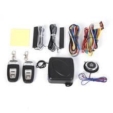 VODOOL 9pcs/set Car Electronics Burglar Alarm SUV Keyless Entry Engine Start System Push Button Remote Starter Stop