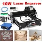 20 x 14 cm Engraving Area 10W USB Desktop Metal Stone Wood CNC Laser Engraver Marking Engraving Machine + Protective Glasses