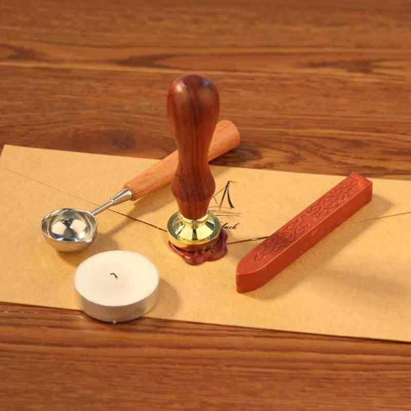 Старинное растение деревянная ручка Металлическая герметизация воск марки DIY Craft воск печать штамп Замена медная голова хобби Инструменты Наборы пост Декор