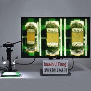 Image 1 - 38MP 1080P 2K 60FPS HDMI USB промышленный электронный видео микроскоп камера 10X 200X зум C Mount объектив материнская плата обнаружения