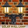 Новейший винтажный Солнечный шестиугольный светодиодный настенный светильник  белый путь  настенный пейзаж  крепление  садовый забор  ламп...
