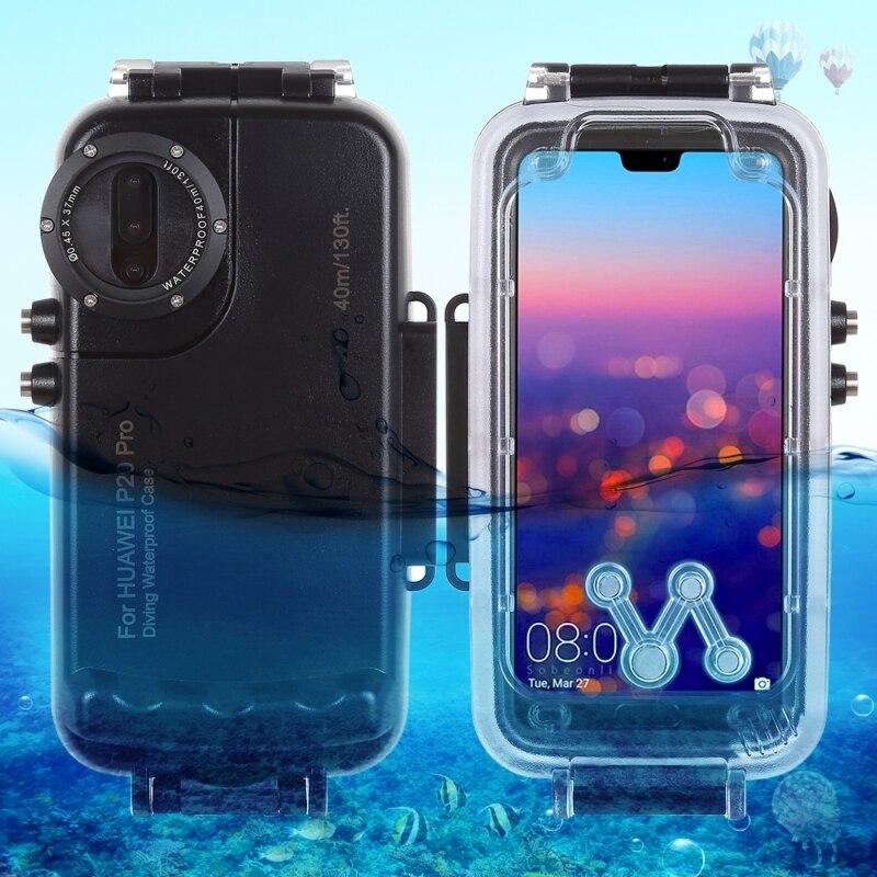Caisson étanche de plongée professionnel pour Huawei P20 Pro boîtier 40 M vidéo prenant la couverture sous-marine pour Huawei P20 Pro
