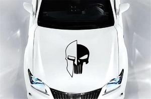 Image 4 - 1 Piece Black 60 x 38CM Punisher Skull Vinyl  Decals Car Auto Door Hood Car Sticker