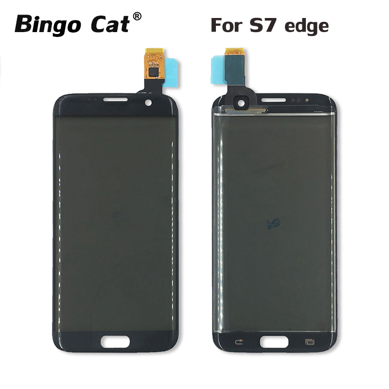 BingoCat Original New Touch Screen Digitizer Front Glass + Touch Panel + Polarizer For Samsung Galaxy S7 Edge G935 Replacement