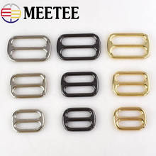 Meetee 5pcs 25/32/38mm Metal Bag Adjustment Buckle DIY Accessories Luggage Hardware Shoes Belt Buckles Sewing BD263