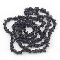 Envío Gratis 7-8mm venta al por mayor de turmalina negro libre Chips Natural gemas de piedra resultados de la joyería de cuentas Strand 34 pulgadas