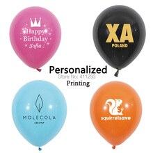 Niestandardowy balon 100 200 1000 pcs spersonalizowany nadruk balon litery tekst własne logo drukowanie reklamy dostosowane balony