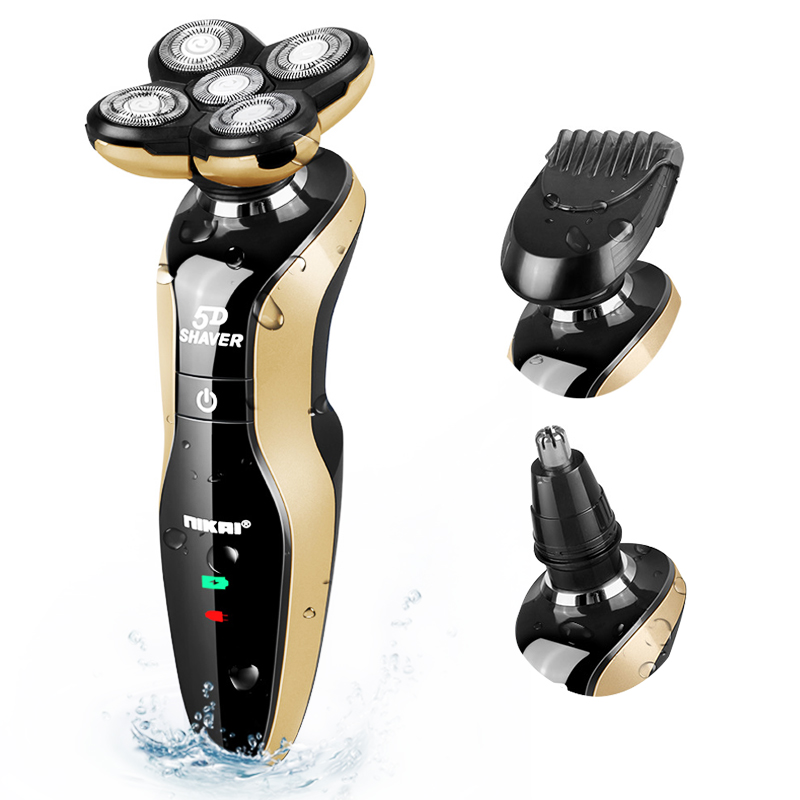 Rechargeable Whole Body Washing Electric Shaver 5D Floating Head Shaving Machine for Men Waterproof Electric Razor D40 image