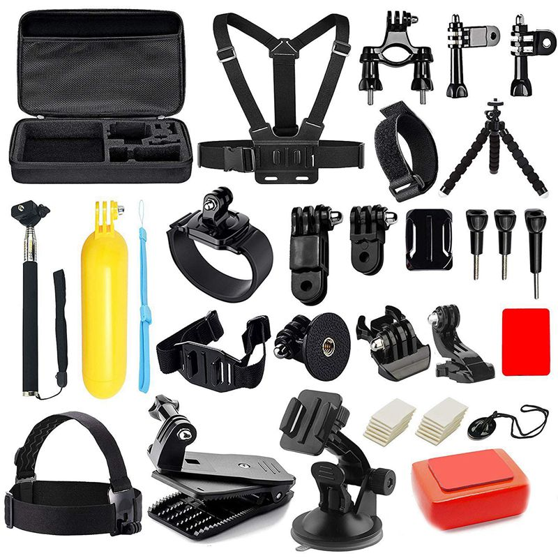Набор аксессуаров для камеры GoPro Hero 6 5 4 3 + набор аксессуаров для экшн камеры SJ4000 SJ5000 SJ6000 Xiaomi Yi F