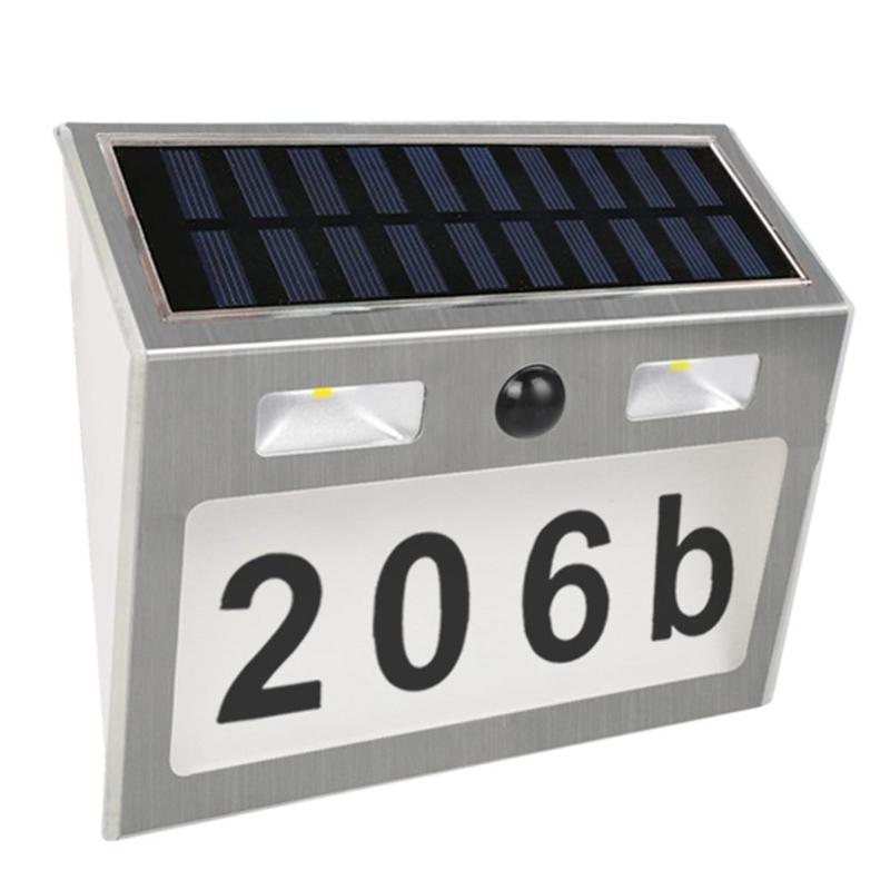 Lighting Doorplate Solar Lamp Waterproof IP55 LED Solar Light Outdoor Motion Sensor House Number Solar Apartment Number Light number 11