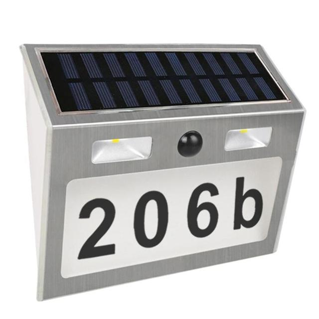 Lighting Doorplate Solar Lamp Waterproof IP55 LED Solar Light Outdoor Motion Sensor House Number Solar Apartment Number Light