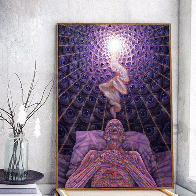 US $0 9 25% OFF|Alex Grey Canvas Wall Art Decoration Home Art of Death Wall  Pictures for Living Room Anime Posters and Prints Quadro-in Painting &