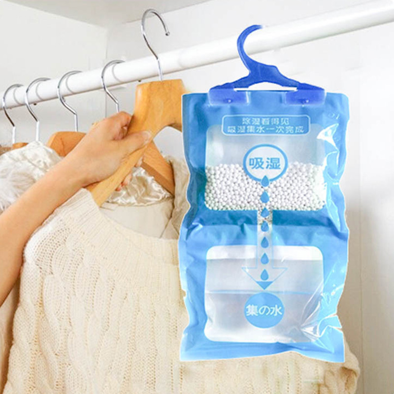 Moldproof Hanging Wardrobe Cabinet Supplies Dehumidification Bag Desiccant Bags Saving Space Anti-mold 1Pcs Moisture Absorbent