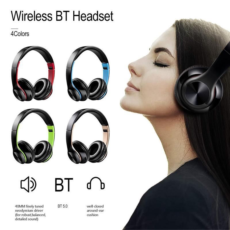 Image 5 - Portable Headphones Wireless Bluetooth Foldable Headset Stereo Hd Hifi Sounds Surrounding Devices With Mic Hands free Calling-in Bluetooth Earphones & Headphones from Consumer Electronics