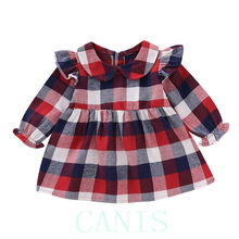fc3b00ce5 Buy kids baby girl casual princess plaid dresses and get free ...