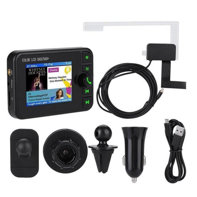 Improved Fashion Color screen Car DAB Radio Digital Radio Adapter With Bluetooth Music Streaming