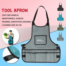 Waterproof Oxford Cloth Garden Work Apron With Pockets Multi functional Adjustable Belt Tool Aprons