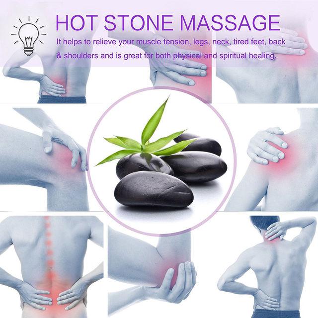 Hot Basalt Stone Massage Set