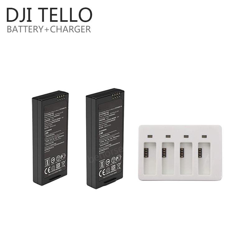 Original DJI Tello Battery+ Fast Charging Hub TELLO Drone Intelligent Flight Batttery Quick Multi Charger Accessories