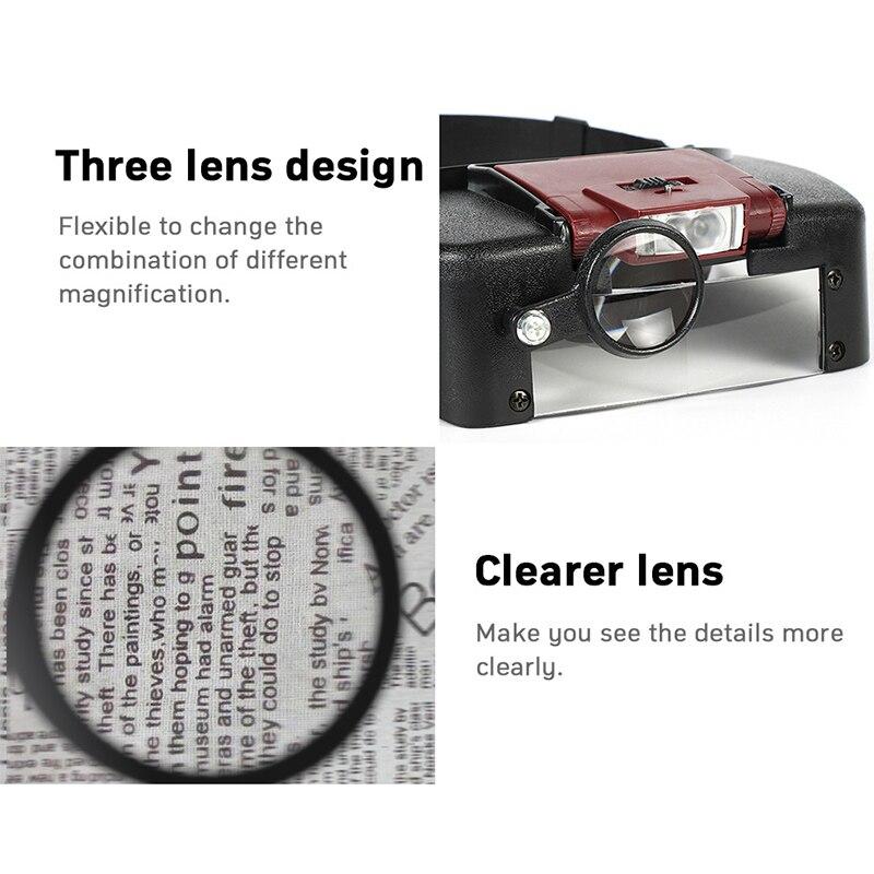 Lente di ingrandimento microscopio a lente di ingrandimento a LED 10X - Strumenti di misura - Fotografia 5