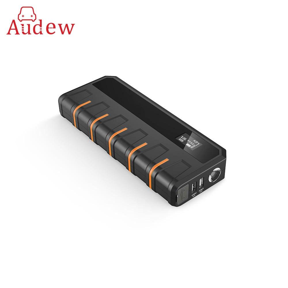 Voiture Puissance Jump Starter 12 v 18000 mah Charge Rapide Double USB 5L 6L Gaz Multiples Protection Arrancador de Potencia puissance Portable LED