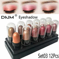 12Pcs/Set Mini Size Eye Shadow Pen Different Colors Highlighter Eyeshadow Pencil Cosmetic Glitter Eye Shadow Eyeliner Pen