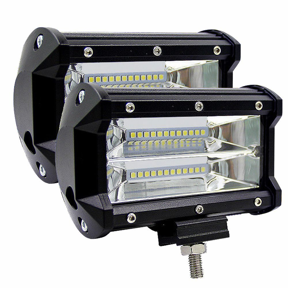 2PCS 5inch 72W 6500K LED Work Light For Driving Fog Lamp Offroad Truck SUV