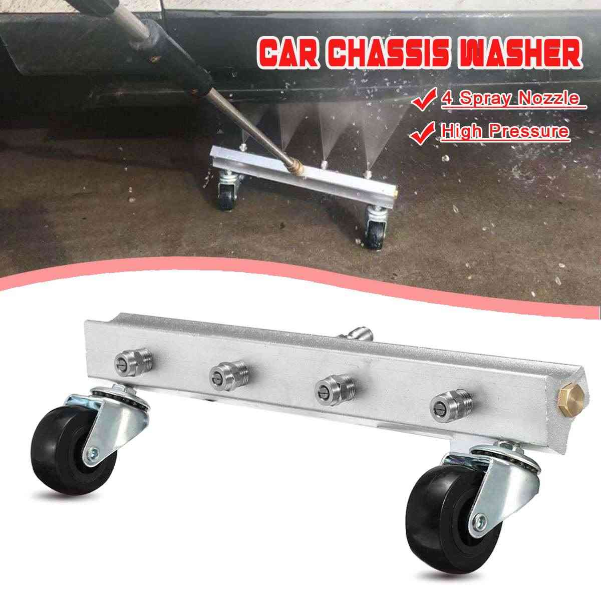 "Hogedrukreiniger Auto Onder Body Chassis Power Wasmachine Auto Wasmachine 4 Sproeikop Cleaner Kit voor 1/4"" connector"