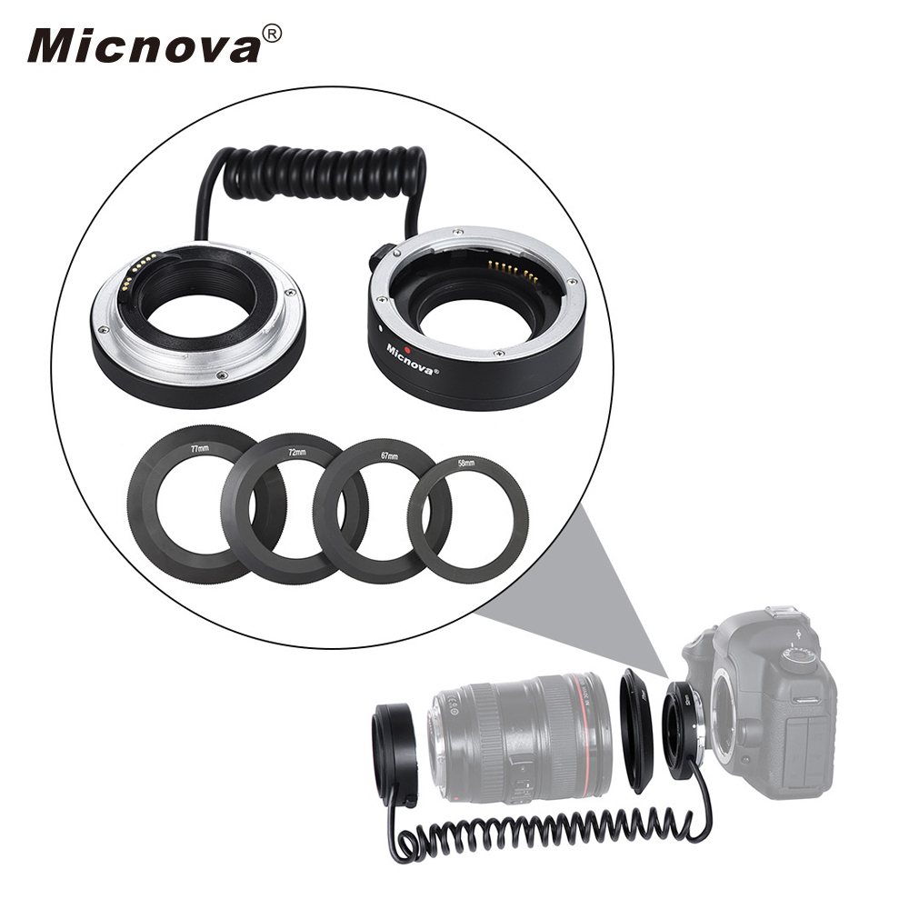 Micnova KK MRA5C AF Auto Focus Macro Close up Adapter Ring Tube w Flexible Cable for