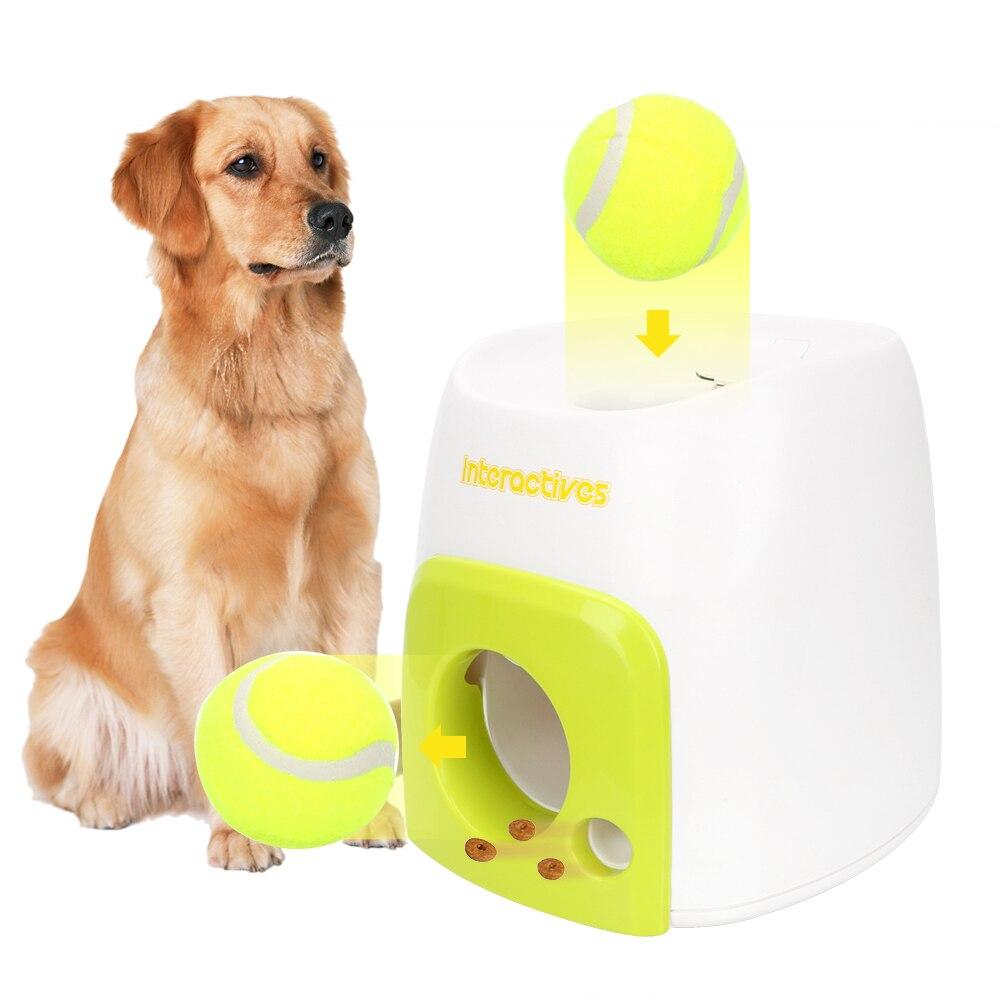 Émission de dispositif de jet de balle d'animal familier avec des jouets d'animal familier de chien de boule lançant le lanceur interactif de Tennis de balle