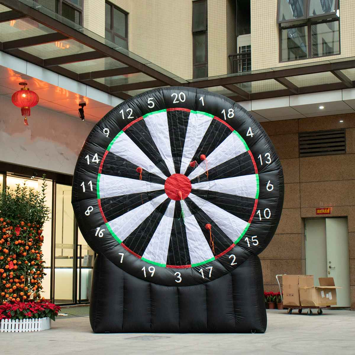 4 Meter Giant Inflatable Dart Board With Air Blower 220V Outdoor Durable Game Oxford Fabric Throwing Sport Games Inflatable Toys4 Meter Giant Inflatable Dart Board With Air Blower 220V Outdoor Durable Game Oxford Fabric Throwing Sport Games Inflatable Toys