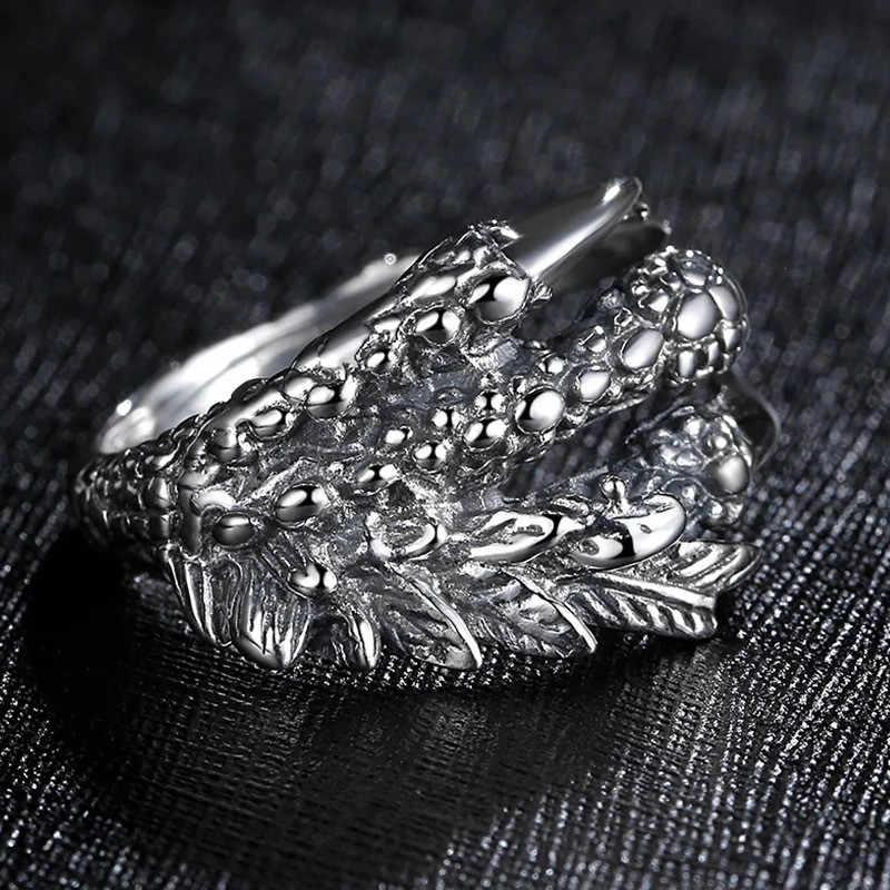 Talon Punk Rock pierścionki męskie gotycka biżuteria smok pierścień z pazurem dla mężczyzn pierścionek zaręczynowy obietnica ślubna pierścionki dla kobiet prezenty kobieta