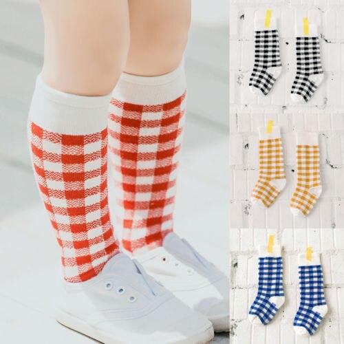 994d2933e 1Pair Brand New Girls Cartoon Toddler Warm Long Socks Kids Child Knee High  Socks Cotton Socks