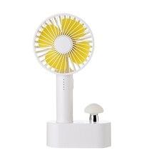 Mushroom Handheld Fan Usb Charging Mushroom Lamp Fan Desktop 5 File Adjustable Wind Speed Large Capacity Fashion All In One