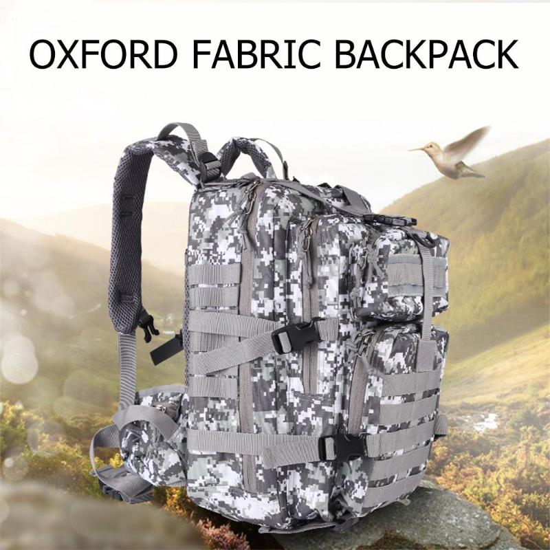 900D Oxford Fabric Backpack Waterproof 3P Rucksack Outdoor Sports Camping Hiking Fishing Hunting 35L Molle Bag