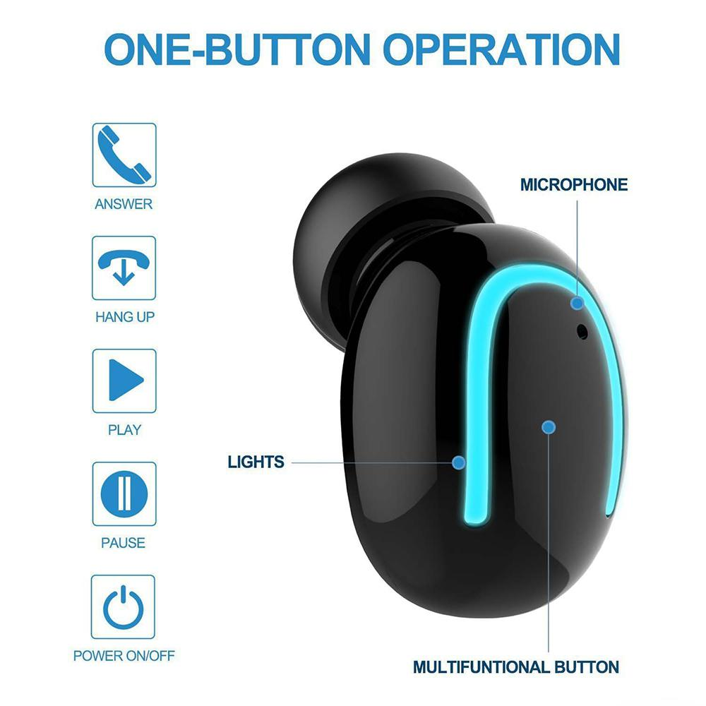 Mini Bluetooth 5.0 Earphone for 6 Hours Continuously Working Wireless Earbuds Easy Automatically Pairing r20
