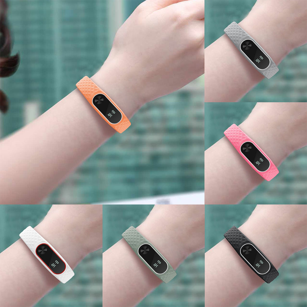 2019 NEW For Miband 2 Strap For Xiaomi Mi Band 2 Strap  Silicone Wrist Strap For Mi Band 2 Bracelet Replacement Wristbands