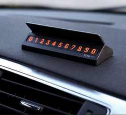 XIAOMI YOUPIN Bcase Тита Флип Тип автомобиля временная парковка телефонная карточка пластина мини украшение автомобиля Временная парковочная