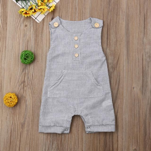 Pakaian Stripes Tanpa Lengan Baby Boy  2