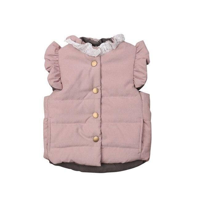 pudcoco autumn winter Warmbaby girl  Vest  Coat Jacket Outwear Waistcoat Sleeveless Thicken Vest Toddler Baby Girls