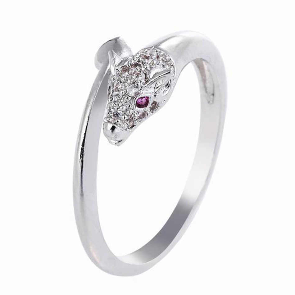 Classic Dragon Rings for Women Fashion Gothic Copper Crystal Cubic Zircon Engagement Party Wedding Ring Valentine Jewelry Gifts