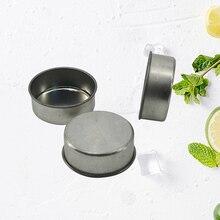 10 шт. маленькие DIY железные пустые круглые банки контейнеры банки для косметического изготовления свечей Tealight